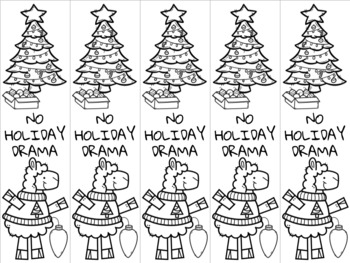 Christmas llama 4 bookmark