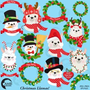 Christmas Llama.Christmas Llama Clipart Cute Llama Clipart Amb 2101