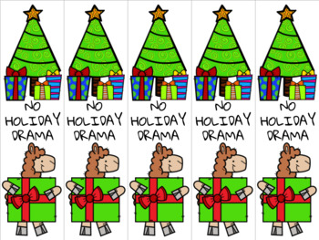 Christmas llama bookmark