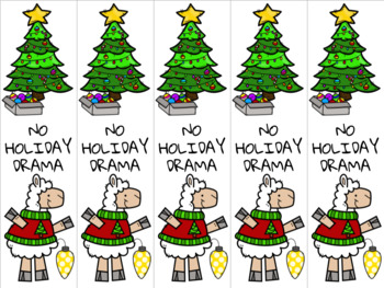 Christmas llama 3 bookmark