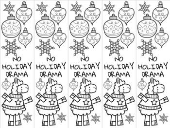 Christmas llama bookmark 6