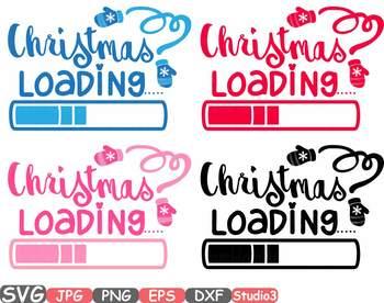 Christmas loading clipart xmas winter snow santa claus merry spirit holiday 54SV