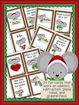 Christmas Math for Kindergarten-Second Grade