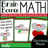Christmas Spiral Math Game for Kindergarten and First Grade
