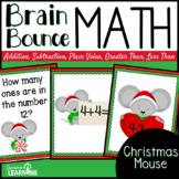 Christmas Spiral Math Game for Kindergarten and First Grade