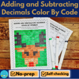 Christmas Math Color by Number - Adding and Subtracting Decimals