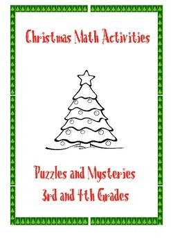 Christmas math activities: multiplication and division puzzles and mysteries
