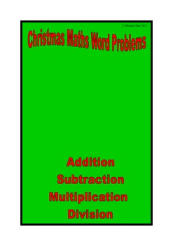 Christmas math activities worded problems
