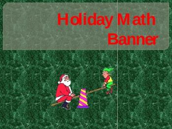 Christmas math banner
