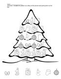 Christmas math finish the pattern