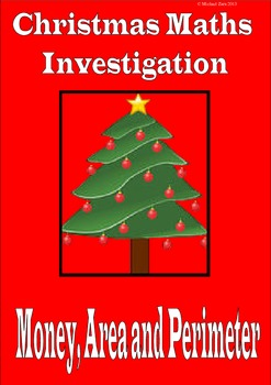 Christmas math investigation activity: money, area and perimeter