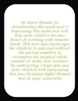 Christmas math mat (number bonds)