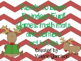 Christmas math mats, games & literacy skills for early chi