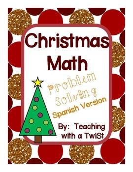 Christmas math problem solving {Spanish}