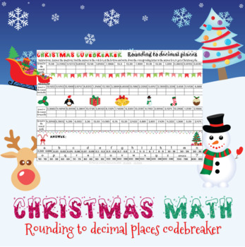 Christmas math - rounding to any decimal place codebreaker