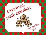 Christmas math stations (K-1)