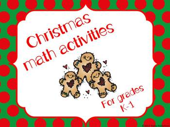 Christmas math stations (K-1)