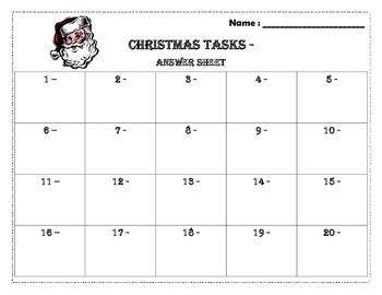 Christmas math task (20) prime/composite- addition/subtraction