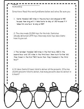 math word problems - christmas theme