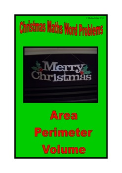 Christmas math activities - area, perimeter and volume