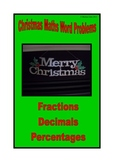 Christmas math activities - fractions, decimals and percentages