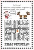 Christmas maze puzzle fun