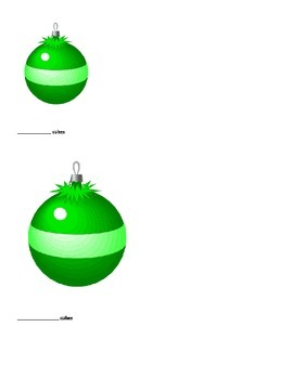 Christmas measuring (non-standard measuring) ornament and wreath
