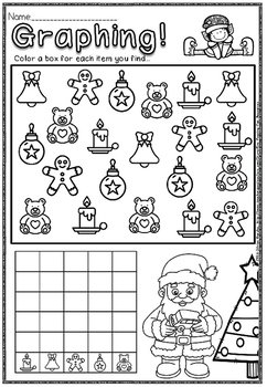 Christmas mega pack and winter math and literacy