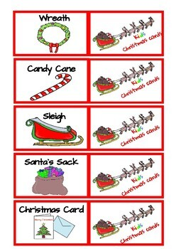 Christmas mini flashcards and bingo game