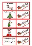 Christmas mini flashcards and bingo game