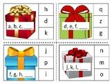 Christmas missing letter clip card center