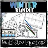 Christmas multi-step equations bundle