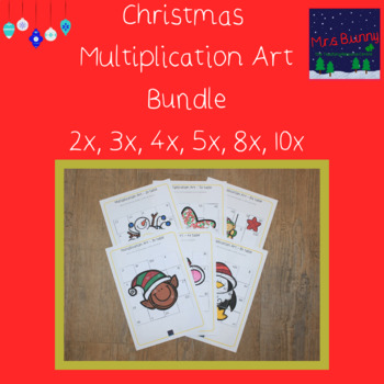 Christmas multiplication revision bundle 2, 3, 4, 5, 8, 10x