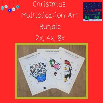 Christmas multiplication revision bundle 2, 4, 8x