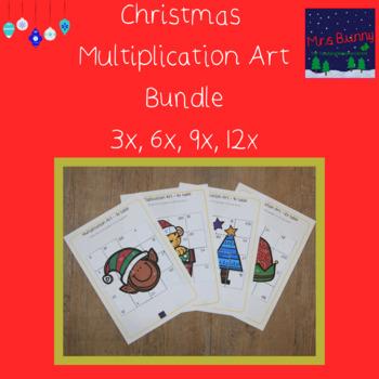 Christmas multiplication revision bundle 3, 6, 9, 12x