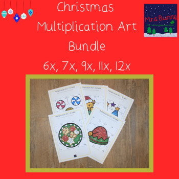 Christmas multiplication revision bundle 6, 7, 9, 11, 12x