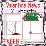 Valentine news letter templet - FREEBIE