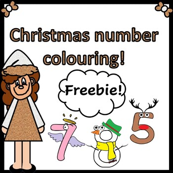 Christmas number colouring or display resource!