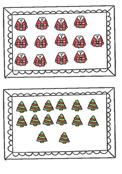 Christmas number match cards