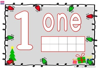 Christmas numbered play dough mats for preschool, prek