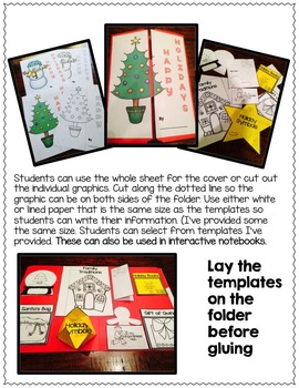 HOLIDAY (CHRISTMAS) ACTIVITIES:  Christmas Interactive Lapbook