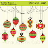 Christmas ornament clipart, Holiday Clipart, Christmas Art & Craft