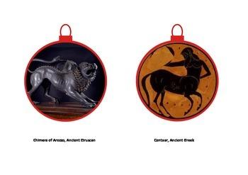 Christmas ornaments:  AP Art History Composite Creatures