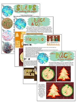 Free Christmas Activity: Shaving Cream Marbleized Christmas Ornaments