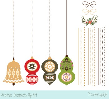 Christmas ornaments clipart, Holiday tree ornaments, Winter clip art images