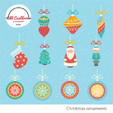 Christmas ornaments commercial use, christmas clipart, vec