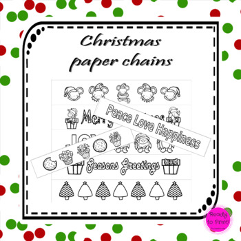 Christmas paper chain links