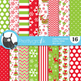 Christmas papers, commercial use, scrapbook papers, - PS771