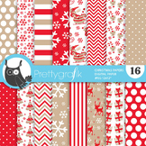 Christmas papers, commercial use, scrapbook papers, - PS773