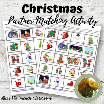 Christmas partner matching game: French